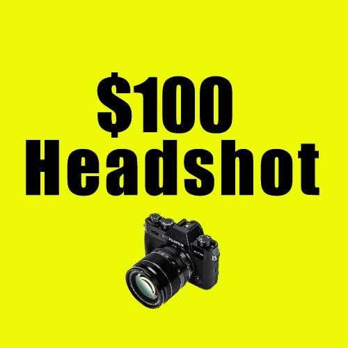 $100 headshot